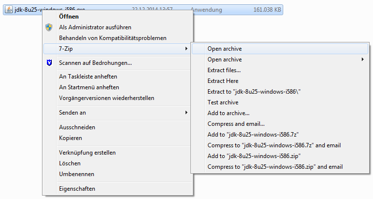 Open with 7-Zip